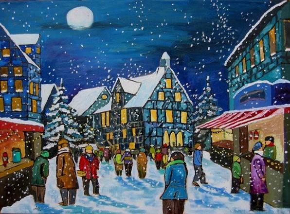 Weihnachtsmarkt im Mondschein